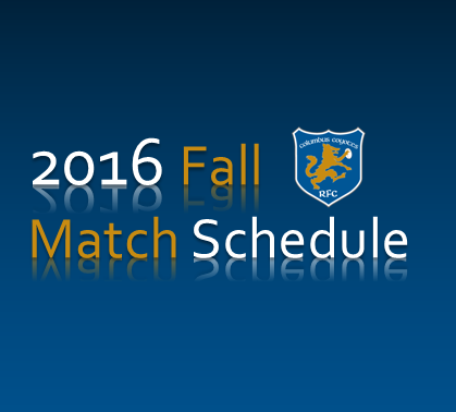 Fall 2016 Match Schedule
